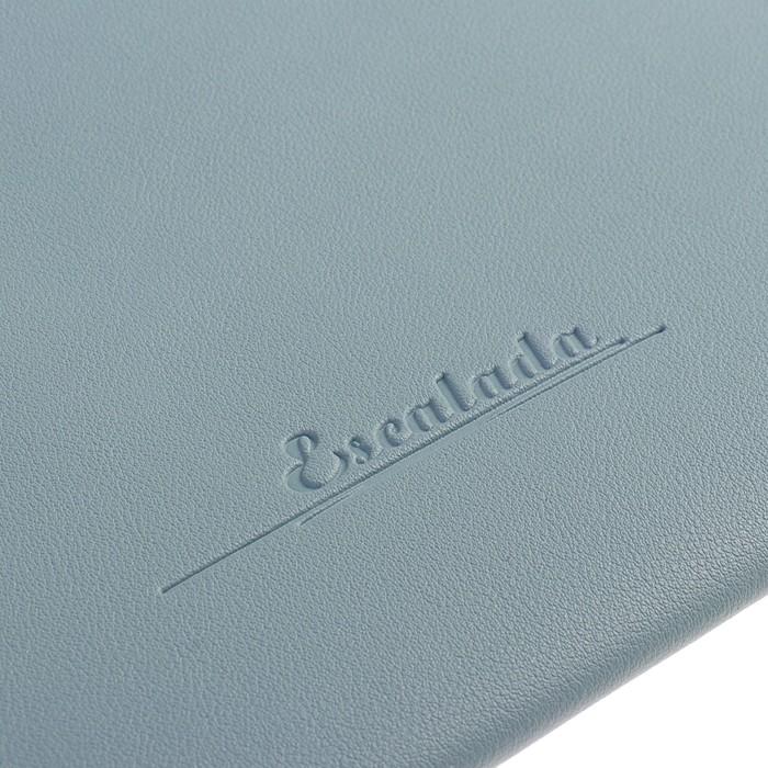 Пaпка деловая искусственная кожа, плоская, 330х240 мм, «Наппа Голубой и серебряный», крестообразная застёжка - фото 408708270