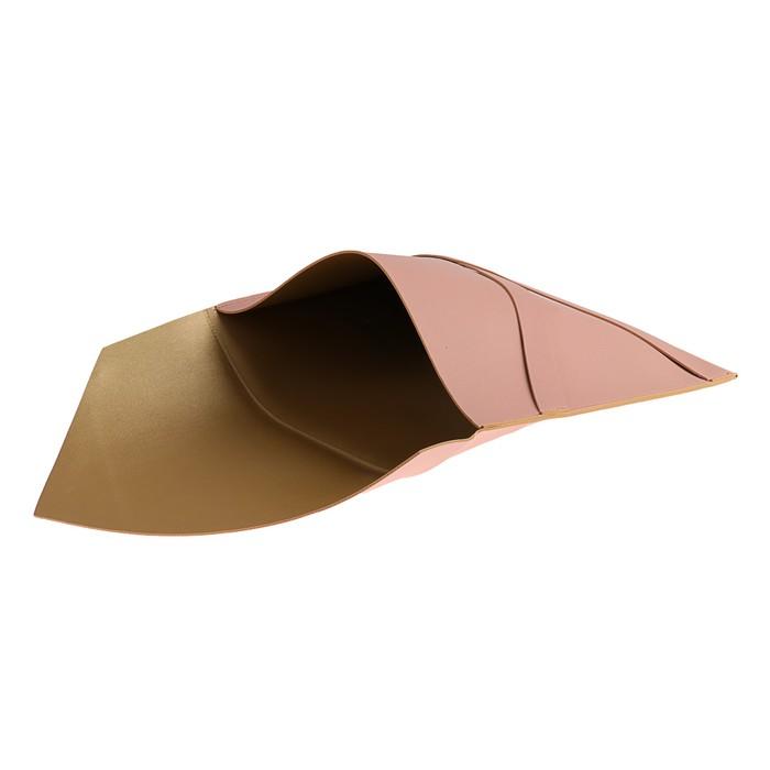Пaпка деловая, искусственная кожа, плоская, 330х240 мм, «Наппа Розовый и серебряный», крестообразная застёжка - фото 448831046