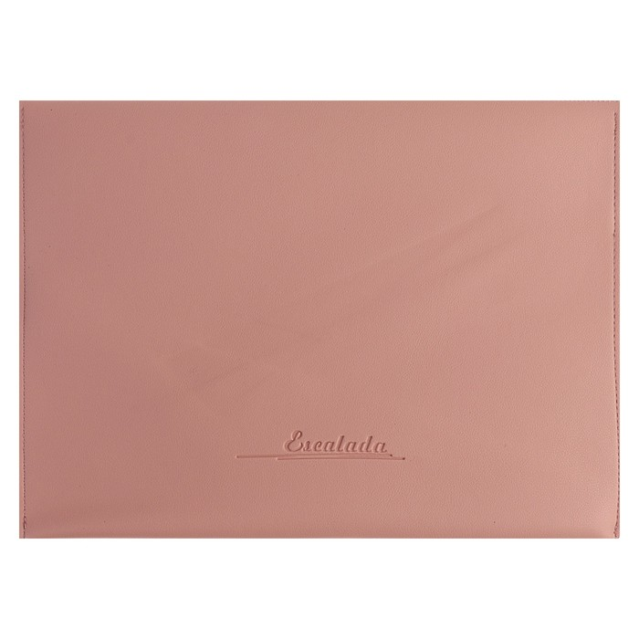 Пaпка деловая, искусственная кожа, плоская, 330х240 мм, «Наппа Розовый и серебряный», крестообразная застёжка - фото 448831048
