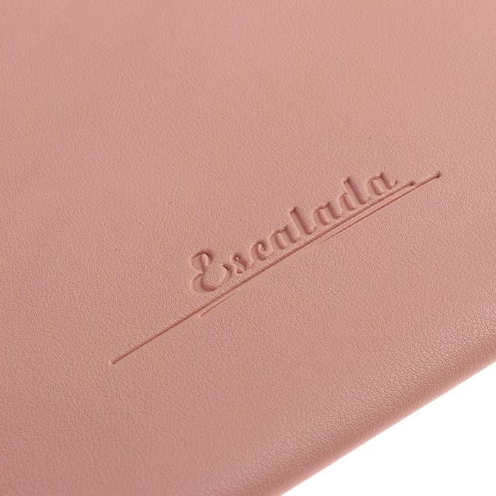 Пaпка деловая, искусственная кожа, плоская, 330х240 мм, «Наппа Розовый и серебряный», крестообразная застёжка - фото 448831049