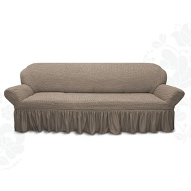 Чехол для мягкой мебели диван 3-х местный 6082, трикотаж, 100% п/э