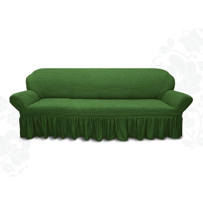 Чехол для мягкой мебели диван 3-х местный 6016, трикотаж, 100% п/э, упаковка микс
