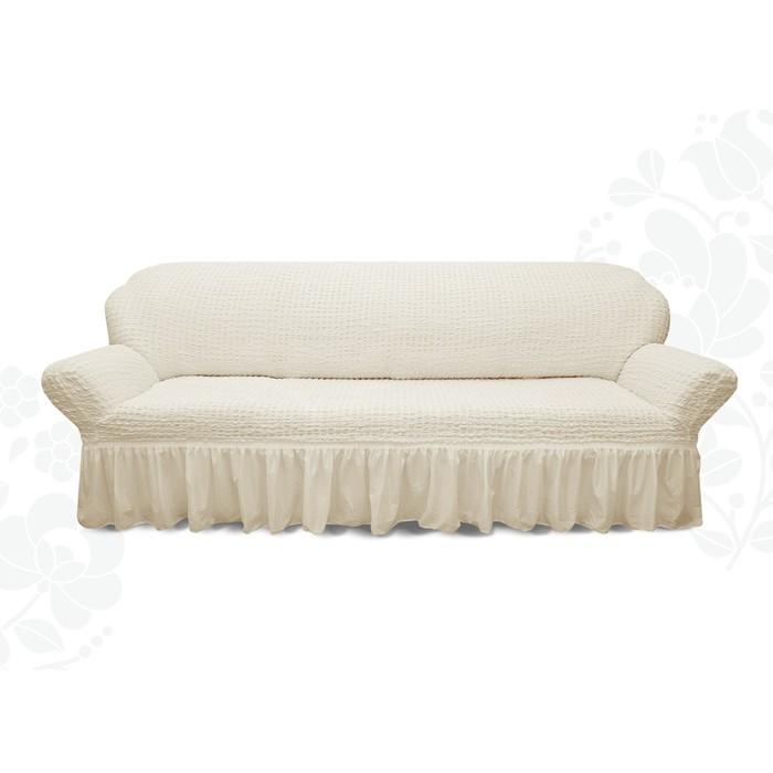 Чехол для мягкой мебели диван 3-х местный 6001, трикотаж, 100% п/э, упаковка микс