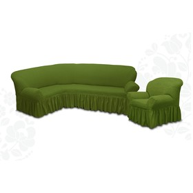 Чехол для мягкой мебели 2пред диван угловой, кресло 6016, трикот, 100% п/э