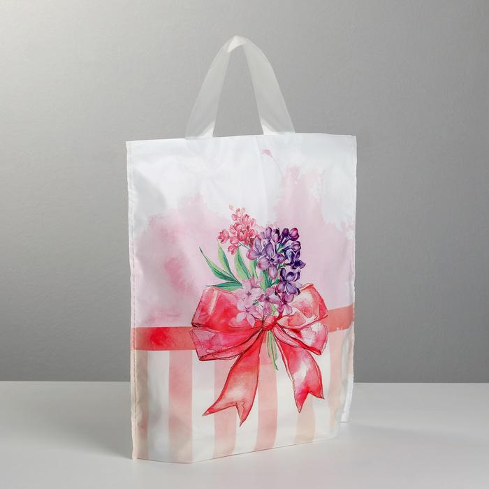 Пакет полиэтиленовый с петлевой ручкой «Бант», 30 × 35 см - фото 163677135