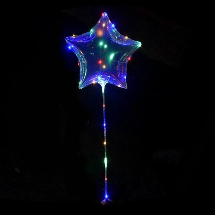 """Шар светящийся полимерный 20"""" «Звезда», цвета МИКС - фото 951845"""