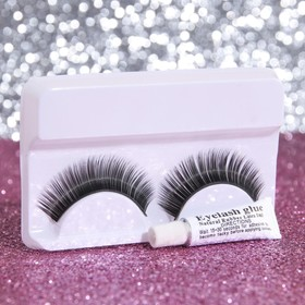 False eyelashes, with glue