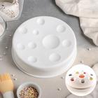 Форма для муссовых десертов и выпечки «Луна», 19,5×4,7 см, цвет белый - фото 308045170
