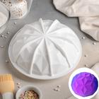 Форма для муссовых десертов и выпечки «Кристалл», 19×9,8 см, цвет белый - фото 308045179