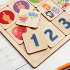 Игра развивающая деревянная «Считаем до пяти» - фото 105621616