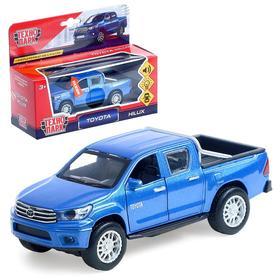 Машина металлическая Toyota Hilux 12 см, световые и звуковые эффекты, инерционная, цвета МИКС
