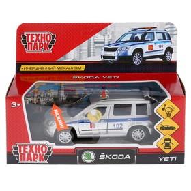 Машина металлическая «Scoda Yeti полиция»12 см, световые и звуковые эффекты, открывающиеся двери, инерционная