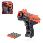 "Blaster ""Cooper"", shoots soft bullets"