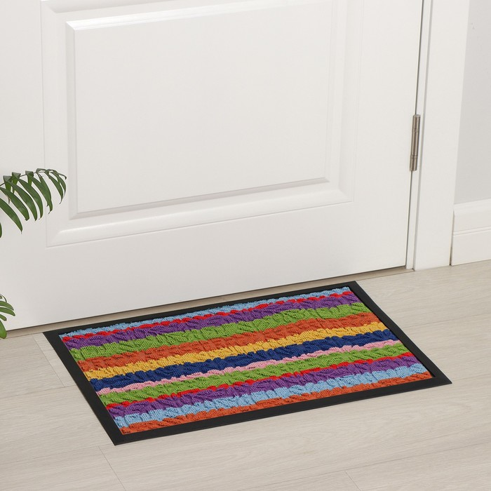 """Door Mat colour """"Leaves"""" 40x60 cm, with a trim MIX color"""