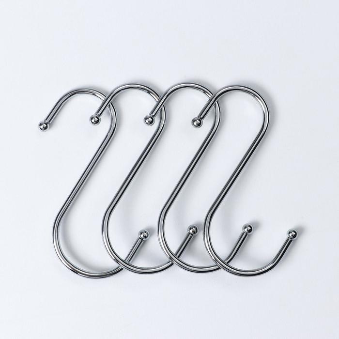Набор крючков для рейлинга Доляна, d=3,5 см, 4 шт