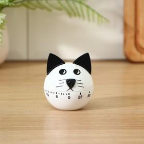 Таймер кухонный 'Котёнок', механический, цвет МИКС Ош