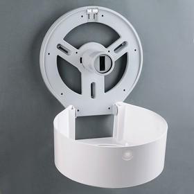 Диспенсер туалетной бумаги 29×26×13 см, втулки 5.7 см и 4.5 см, пластик, цвет белый с чёрным - фото 4648733