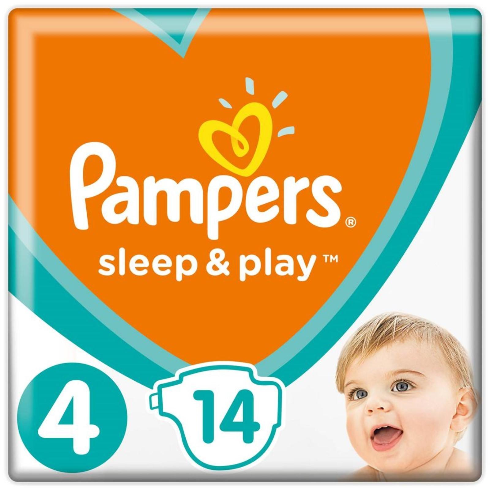 Подгузники Pampers Sleep Play (4) Maxi 9-14 кг, 14 шт (4000212 ... 07b0a3d99e5