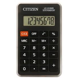 Pocket calculator 8-bit, 69x115x23 mm, battery powered, black LC310NR