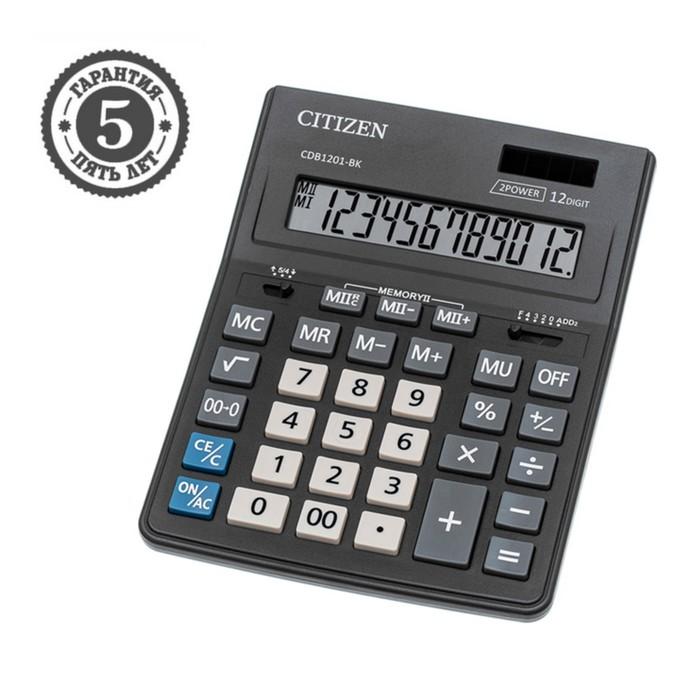 Калькулятор настольный 14-разрядный, 155х205х28 мм, двойное питание CDB1401BK - фото 418337411