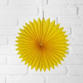 Изделие из бумаги декор «Круг», 25 см, цвет жёлтый