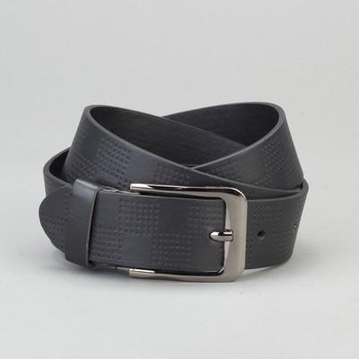 Men's belt, buckle is a dark metal, width 4 cm, color black