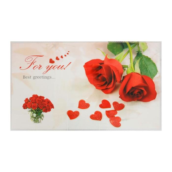 """Наклейка на кафельную плитку 75х45 см """"Сердца из тюльпанов"""""""