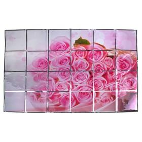 """Наклейка на кафельную плитку 90х60 см """"Букет розовых роз"""""""