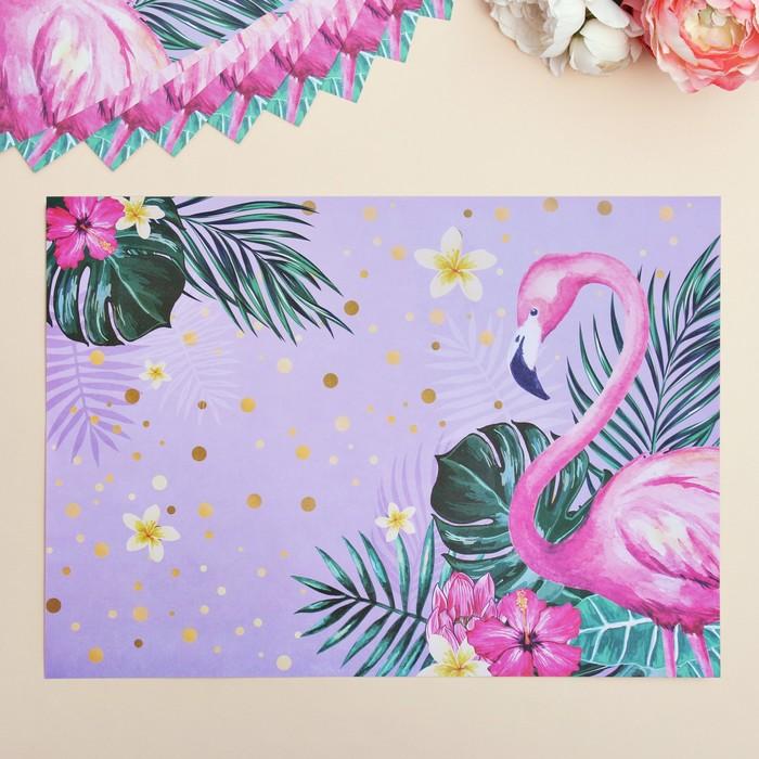 Набор «Фламинго», бумажные салфетки, 10 шт., 35 х 25 см