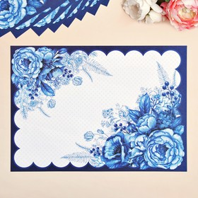 """A set of napkins on the table """"Flowers"""", 10 PCs 35 x 25 cm"""