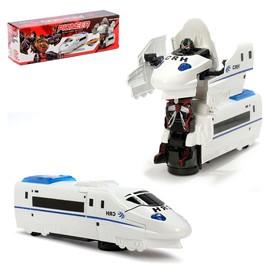 Поезд-трансформер «Автобот», световые и звуковые эффекты, работает от батареек