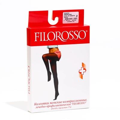 Колготки Filorosso Terapia лечебно-профилактические, 2 класс, 80 Den, черные, размер 3