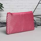 Cosmetic bag simple, division zipper, color raspberry