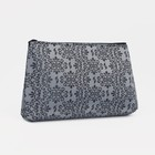 """Cosmetic bag with a simple """"Azhur"""", Department zip, color grey"""