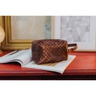 Cosmetic bag road Department with zipper, coffee color