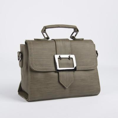 Bag, Department, partition with zip, outer pocket, long strap, color olive