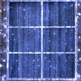 """Гирлянда """"Занавес"""" 2 х 6 м , IP65, УМС, тёмная нить, 1440 LED, свечение белое, 220 В"""