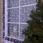 """Гирлянда """"Занавес"""" уличная, УМС, 2 х 9 м, каучук, 3W LED(IP65-M)-1800-220V, нить белая, свечение белое"""