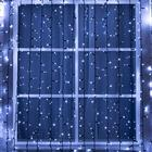 "Гирлянда ""Занавес"" уличная, УМС, 2 х 9 м, каучук, 3W LED(IP65-M)-1800-220V, свечение белое"
