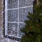 """Гирлянда """"Занавес"""" уличная, УМС, 2 х 9 м, 3W LED(IP65-O)-1800-220V, мерцание, нить белая, свечение белое"""