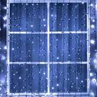 """Гирлянда """"Занавес"""" уличная, УМС, 2 х 9 м, 3W LED(IP65-O)-1800-220V, мерцание, нить тёмная, свечение белое"""