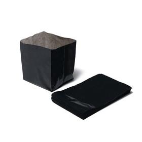 Пакет для рассады, 0,6 л, 8 × 14 см, с перфорацией, толщина 50 мкм, чёрный