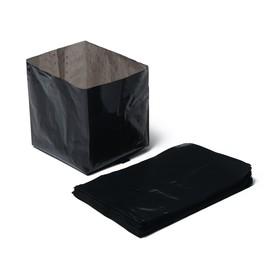 Пакет для рассады, 0,3 л, 13 × 7 см, с перфорацией, толщина 50 мкм, чёрный Ош