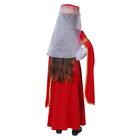 Карнавальный костюм для лезгинки, для девочки: головной убор, платье, р-р 28, рост 98-104 см, цвет красный - фото 105521532