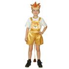 """Карнавальный костюм """"Львёнок"""", атлас, полукомбинезон, головной убор, р-р 28, рост 98-104 см"""