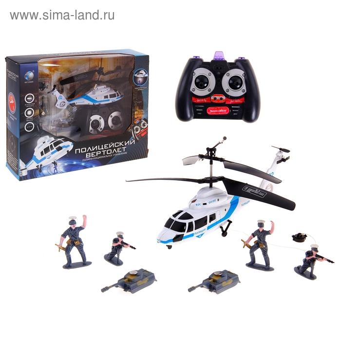 """Вертолет радиоуправляемый """"Полицейский"""", со световыми и звуковыми эффектами"""