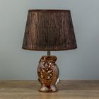"""Настольная лампа """"Аэлита"""" 1х40Вт E14 белый-коричневый 20х15х30см."""