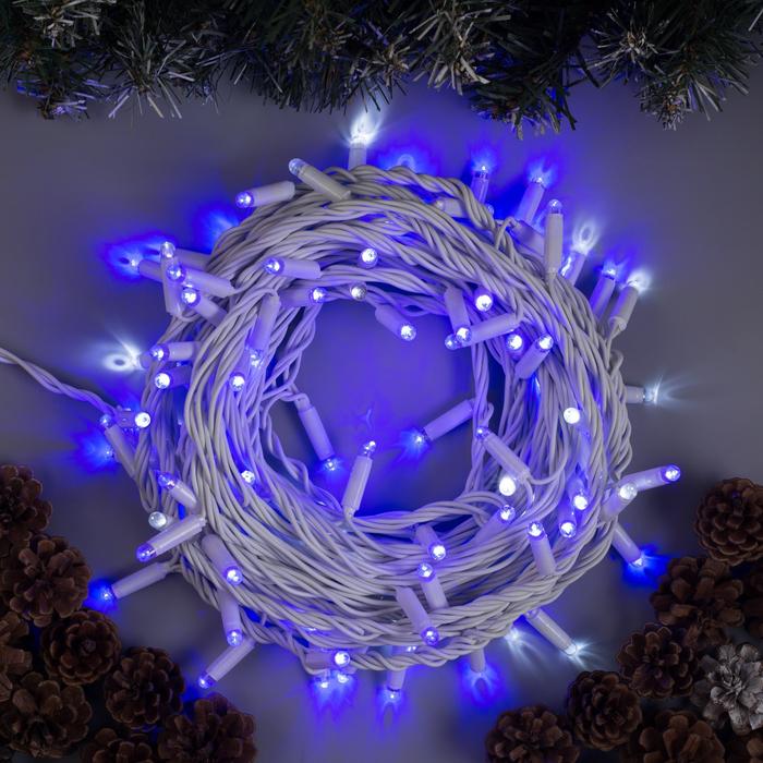 "Гирлянда ""Нить"" уличная, УМС, 10 м, 3W LED(IP65-O)-100-220V, мерцание, свечение синее"