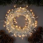 """Гирлянда """"Нить"""" уличная, 20 м, LED-200-220V, 8 режимов, нить белая, свечение тёплое белое"""