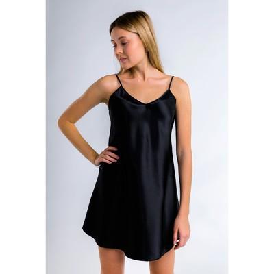 """Ночная сорочка однотонная """"Passion"""", размер 42-44, цвет чёрный"""